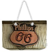 Phillips 66 Vintage Sign Weekender Tote Bag