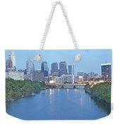 Philly In Blue Weekender Tote Bag