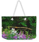 Phlox Along The Creek 7185 Weekender Tote Bag
