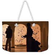 Photographers In Silhouette At A Heritage Building In Rajasthan In India Weekender Tote Bag