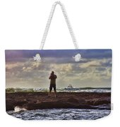 Photographing Seaside Life Weekender Tote Bag by Douglas Barnard