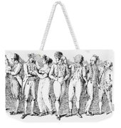 Phrenology, 19th Century. /nreading Skulls. Line Engraving, Early 19th Century Weekender Tote Bag