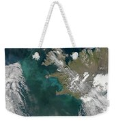 Phytoplankton Bloom In The North Weekender Tote Bag by Stocktrek Images