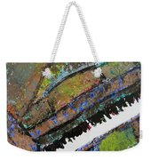 Piano Aqua Wall - Cropped Weekender Tote Bag by Anita Burgermeister