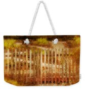 Picket Fence And Cottage Weekender Tote Bag