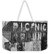 Picnic Ground Monochrome Weekender Tote Bag