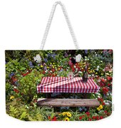Picnic Table Among The Flowers Weekender Tote Bag