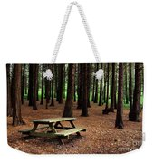 Picnic Table Weekender Tote Bag by Carlos Caetano
