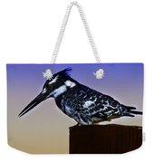 Pied Kingfisher Weekender Tote Bag