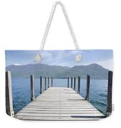 Pier And Snow-capped Mountain Weekender Tote Bag