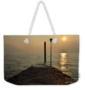 Pier And Sunset Weekender Tote Bag