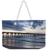 Pier In The Evening Weekender Tote Bag by Sandy Keeton