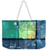 Piercing Geo Green Weekender Tote Bag