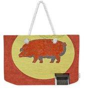 Pig On A Wall Weekender Tote Bag