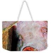 Pig Sleeping Weekender Tote Bag