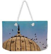 Pigeons Around Dome Of The Jama Masjid In Delhi In India Weekender Tote Bag