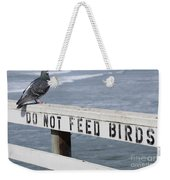 Pigeons Cannot Read Weekender Tote Bag
