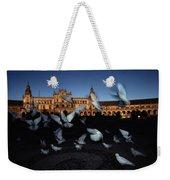 Pigeons Flutter Above The Plaza De Weekender Tote Bag