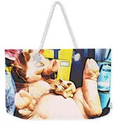 Piggy And Piglets In Store Window Weekender Tote Bag