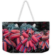 Pile Of Pink And Blue Buoys Weekender Tote Bag