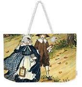 Pilgrim Schoolchildren Weekender Tote Bag