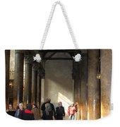 Pilgrims At Nativity Church In Bethlehem Weekender Tote Bag