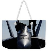 Pilots Conducts A Pre-flight Inspection Weekender Tote Bag