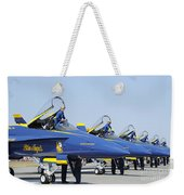 Pilots Of The Blue Angels Flight Weekender Tote Bag