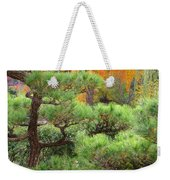 Pine And Autumn Colors In A Japanese Garden II Weekender Tote Bag