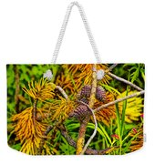 Pine Cones And Needles On A Branch Weekender Tote Bag
