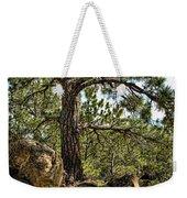 Pine Tree And Rocks Weekender Tote Bag