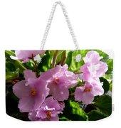 Pink African Violets Weekender Tote Bag