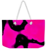 Pink And Black Abstract Weekender Tote Bag