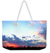 Pink And Blue Sunset Weekender Tote Bag
