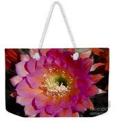 Pink And Orange Cactus Flower Weekender Tote Bag