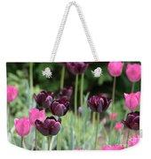 Pink And Purple Tulips Weekender Tote Bag