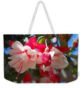 Pink And Red Fuchsia Weekender Tote Bag