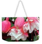 Pink And White Ruffled Fuschias Weekender Tote Bag