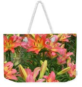 Pink And Yellow Daylilies Weekender Tote Bag