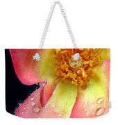 Pink And Yellow Rose Weekender Tote Bag