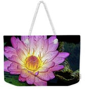Pink And Yellow Waterlily Weekender Tote Bag