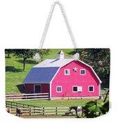 Pink Barn In The Summer Weekender Tote Bag