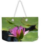 Pink Beaded Wings Weekender Tote Bag
