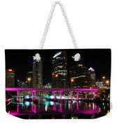 Pink Bridge Weekender Tote Bag
