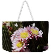 Pink Cactus Weekender Tote Bag