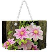 Pink Climatis Flower Weekender Tote Bag