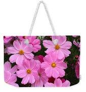 Pink Cosmos Weekender Tote Bag