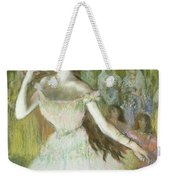 Pink Dancer  Weekender Tote Bag by Edgar Degas