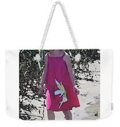 Pink Dress Weekender Tote Bag