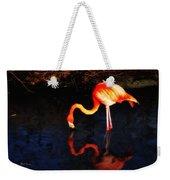 Pink Flamingo  Weekender Tote Bag